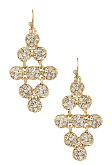 Bijuterii Femei Natasha Accessories Crystal Dangle Earrings GOLD