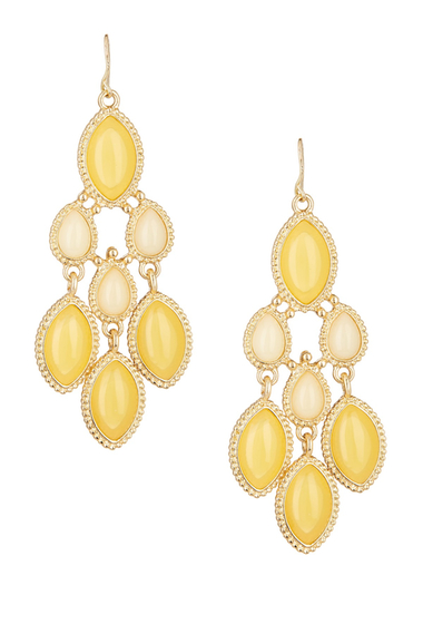 Bijuterii Femei Natasha Accessories Chandelier Earrings YELLOW