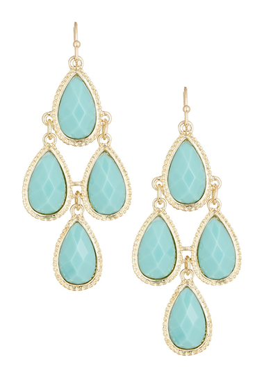 Bijuterii Femei Natasha Accessories Faceted Teardrop Dangle Earrings MINT
