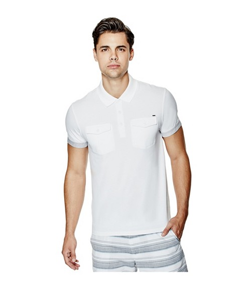 Imbracaminte Barbati GUESS Lygon Polo true white