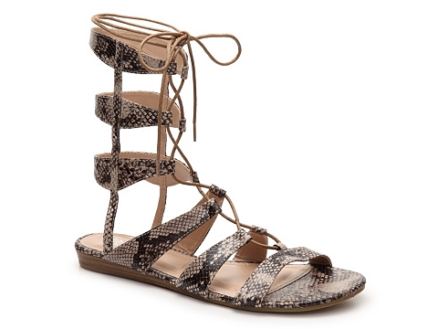 Incaltaminte Femei GC Shoes Amazon Snake Gladiator Sandal BeigeBlack