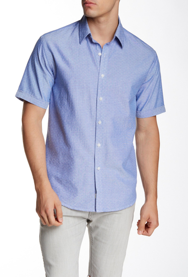Imbracaminte Barbati James Campbell Kuehl Oxford Short Sleeve Woven Shirt BLUE