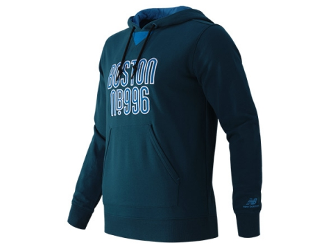 Imbracaminte Barbati New Balance NB996 Graphic Pullover Hoodie Deep Water with Bolt