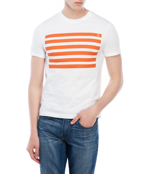 Imbracaminte Barbati Original Penguin Stripe Graphic Tee White
