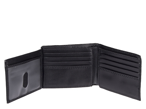Accesorii Barbati Dockers Dockers Traveler Leather Wallet Black