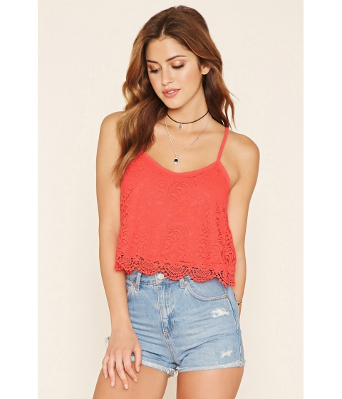 Imbracaminte Femei Forever21 Scalloped Lace Cami Coral