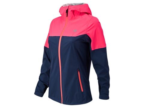Imbracaminte Femei New Balance Cosmo Proof Jacket Navy with Pink Zing