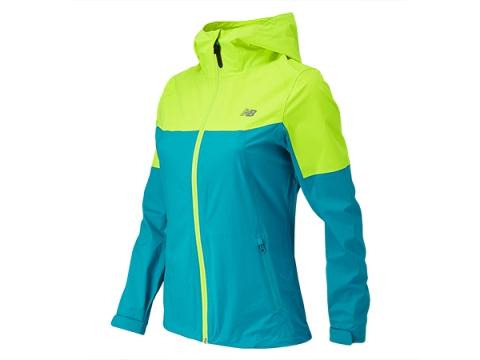 Imbracaminte Femei New Balance Cosmo Proof Jacket Hi-Lite with Sea Glass