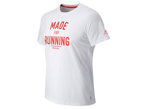 Imbracaminte Barbati New Balance Made for Running Tee White with Flame
