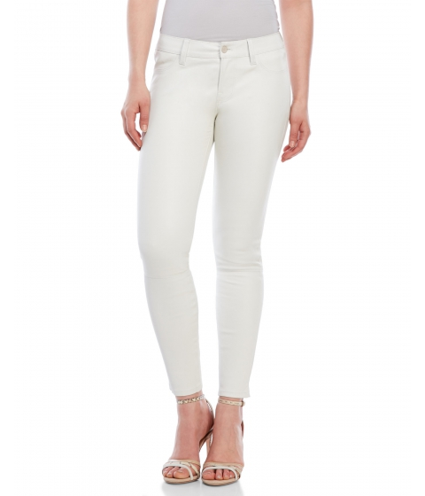Imbracaminte Femei J Brand Cropped Skinny Leather Pants Ghost White