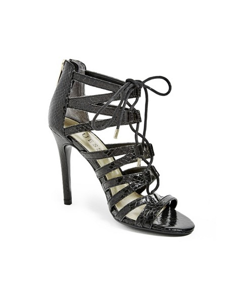 Incaltaminte Femei GUESS Starley Lace-Up Heels black