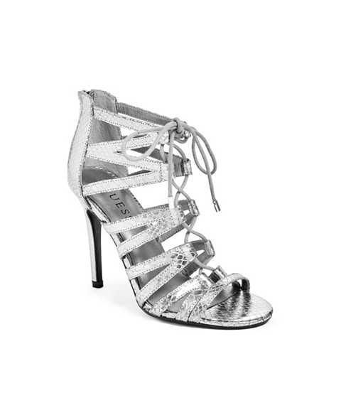 Incaltaminte Femei GUESS Starley Lace-Up Heels pewter