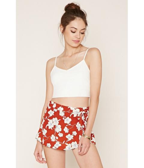 Imbracaminte Femei Forever21 Floral Mini Skirt Rustcream