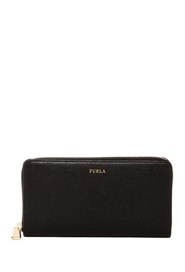 Accesorii Femei Furla Classic XL Zip-Around Leather Wallet ONYX