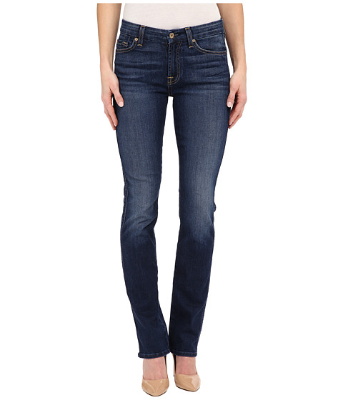 Imbracaminte Femei 7 For All Mankind Kimmie Straight in Medium Timeless Blue Medium Timeless Blue