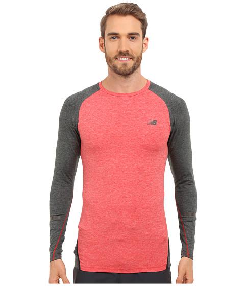 Imbracaminte Barbati New Balance Trinamic Long Sleeve Top Chrome Red