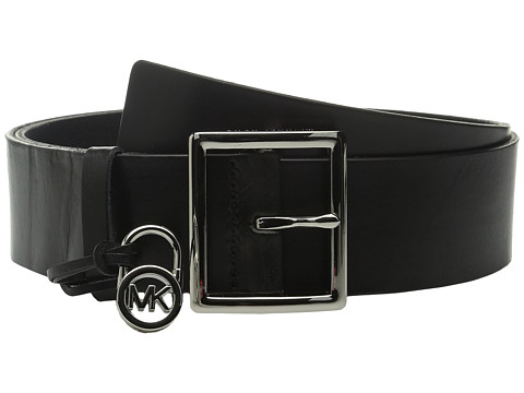 Accesorii Femei MICHAEL Michael Kors 44mm Veg Leather Belt with Centerbar Buckle and 7 Holes Black
