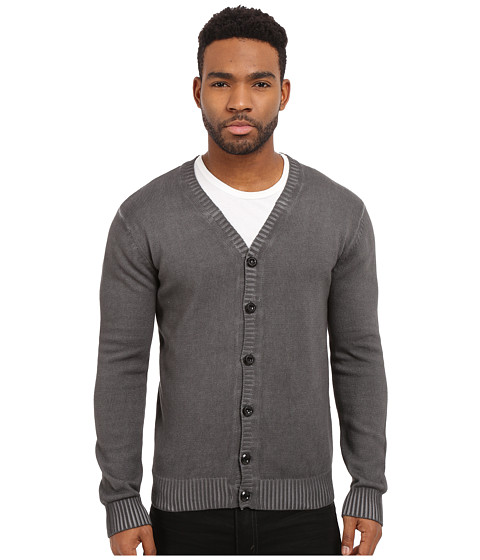 Imbracaminte Barbati Publish Casimir - Fashion Cardigan with Pigmented Oil Wash Black