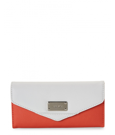 Genti Femei Nine West Coral Petal Snow Petal Color Mix Flap Wallet Coral Petal Snow Petal