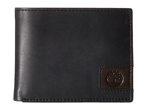 Genti Barbati Timberland Cloudy Leather Tab Passcase Wallet Black