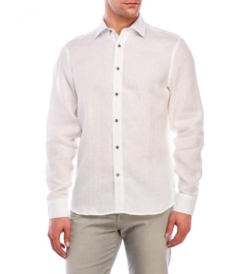 Imbracaminte Barbati Report Collection Long Sleeve Woven Linen Shirt White