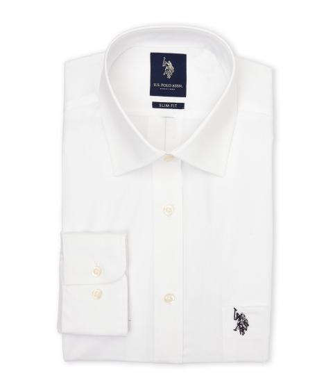Imbracaminte Barbati US Polo Assn White Slim Fit Dress Shirt White