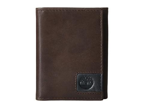 Genti Barbati Timberland Cloudy Leather Tab Trifold Wallet Brown