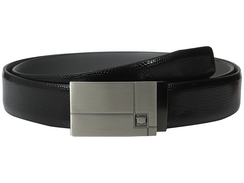 Accesorii Barbati Florsheim 35mm Embossed Lizard Grain Leather Belt Black