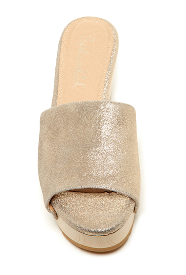Incaltaminte Femei Splendid Lana Platform Slide Sandal CHMPGNE-CL