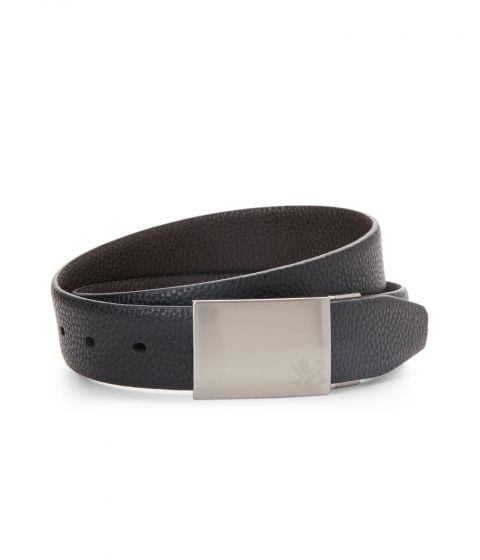 Accesorii Barbati English Laundry Reversible Pebbled Leather Belt Black Brown