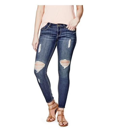 Imbracaminte Femei GUESS Esraine Destructed Skinny Jeans dark destroy wash