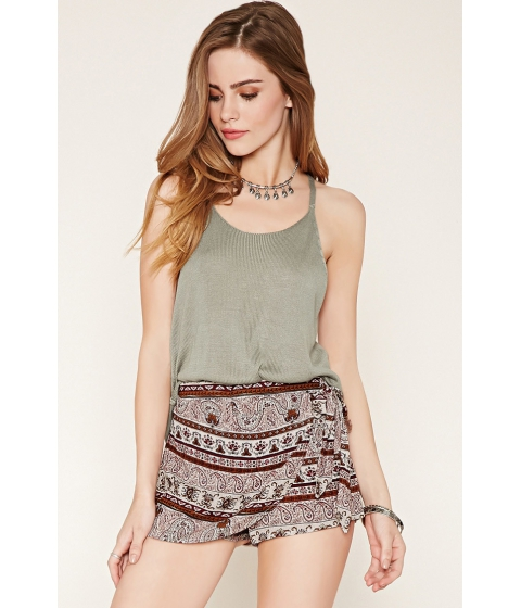 Imbracaminte Femei Forever21 Floral Paisley Skort Creamwine