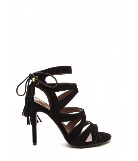 Incaltaminte Femei CheapChic Exotic Accent Faux Suede Heels Black