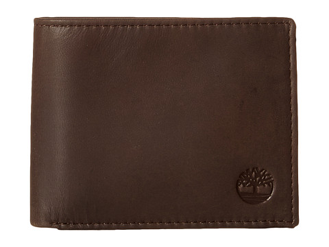 Genti Barbati Timberland Cloudy Contrast Leather Passcase Wallet Brown