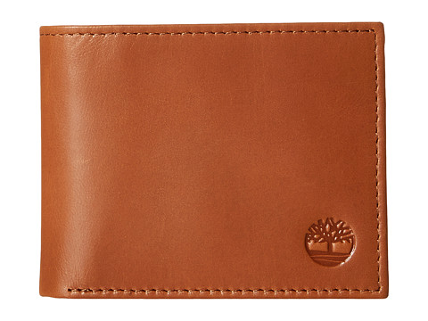 Genti Barbati Timberland Cloudy Contrast Leather Passcase Wallet Tan