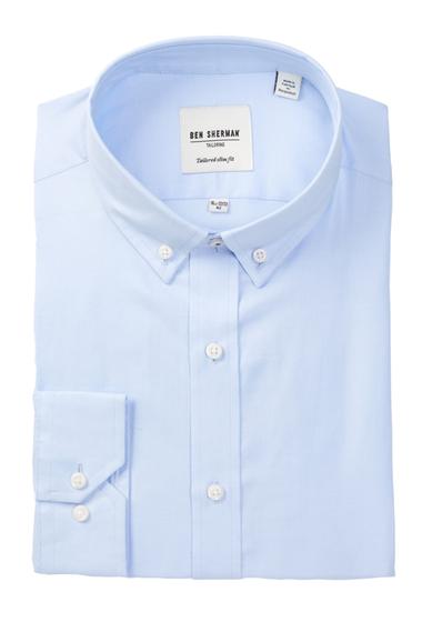 Imbracaminte Barbati Ben Sherman Long Sleeve Tailored Skinny Fit Blue Dress Shirt 450