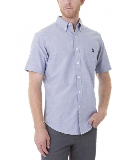 Imbracaminte Barbati US Polo Assn SHORT SLEEVE SOLID OXFORD Marina Blue