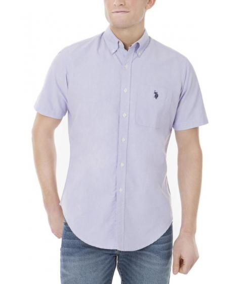 Imbracaminte Barbati US Polo Assn Solid Short Sleeve Oxford Shirt PAISLEY PURPLE