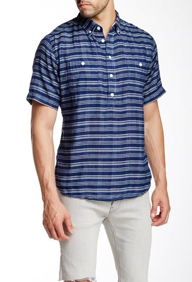 Imbracaminte Barbati Barque Striped Short Sleeve European Fit Shirt INDIGO