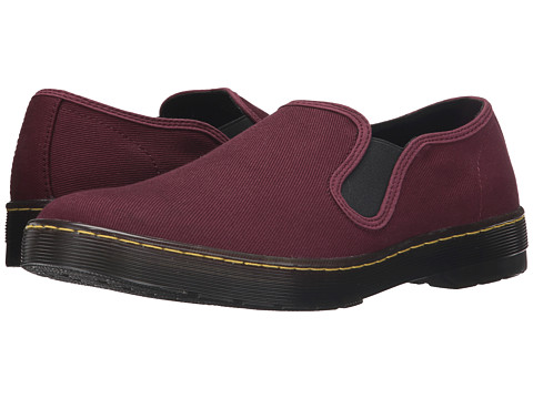 Incaltaminte Barbati Dr Martens Largo Slip-On Shoe Old Oxblood Overdyed Twill Canvas