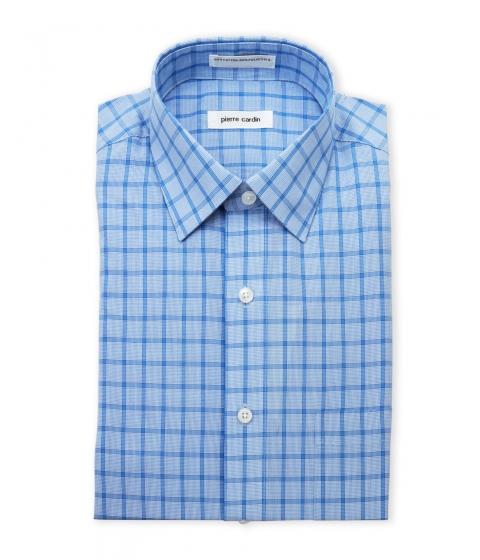 Imbracaminte Barbati Pierre Cardin Blue Plaid Dress Shirt Blue