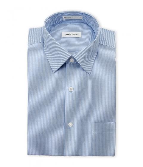 Imbracaminte Barbati Pierre Cardin Blue White Striped Dress Shirt Blue White