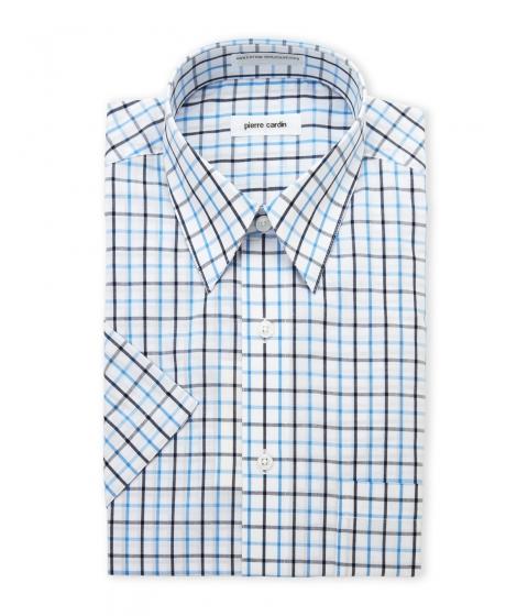 Imbracaminte Barbati Pierre Cardin Navy Blue Check Short Sleeve Dress Shirt Navy Blue