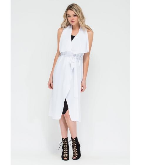 Imbracaminte Femei CheapChic Flowing Flyaway Sleeveless Jacket White