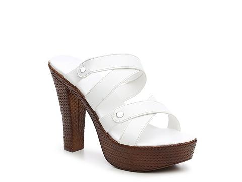 Incaltaminte Femei Italian Shoemakers Slide Platform Sandal White