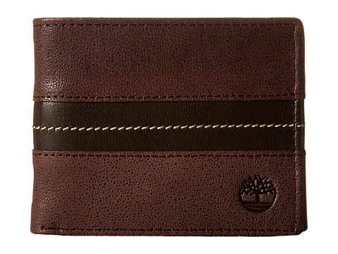 Genti Barbati Timberland Tip Point Leather Passcase Wallet Brown