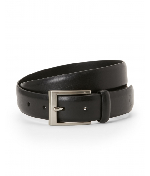 Accesorii Barbati Kenneth Cole Reaction Logo Stamped Belt Black