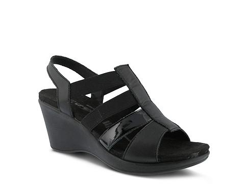 Incaltaminte Femei Flexus by Spring Step Monnie Wedge Sandal Black