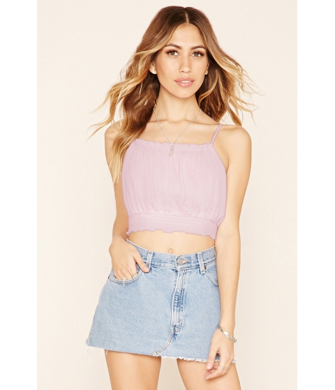Imbracaminte Femei Forever21 Smocked Cropped Cami Seashell pink