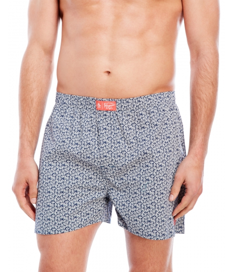 Imbracaminte Barbati Original Penguin Woven Penguin Print Boxers Dark Denim